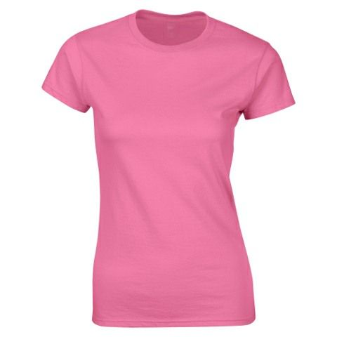 SoftStyle Ladies Fitted Ringspun T-Shirt-B Pink