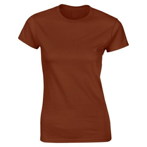 SoftStyle Ladies Fitted Ringspun T-Shirt-Chestnut