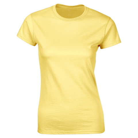 SoftStyle Ladies Fitted Ringspun T-Shirt-Daisy