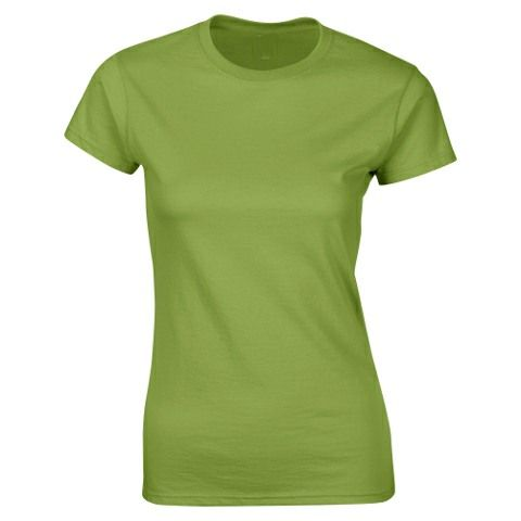 SoftStyle Ladies Fitted Ringspun T-Shirt-Kiwi
