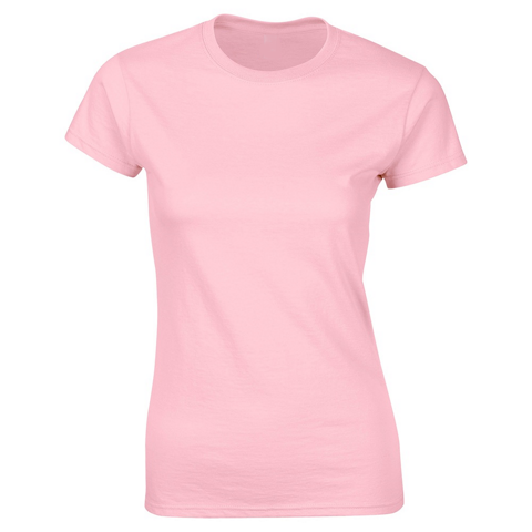 SoftStyle Ladies Fitted Ringspun T-Shirt-Lt Pink