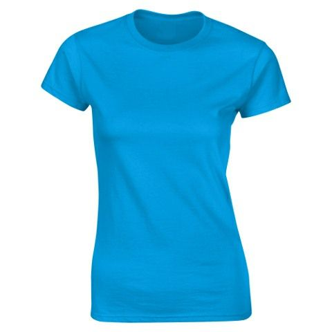 SoftStyle Ladies Fitted Ringspun T-Shirt-Sapphire